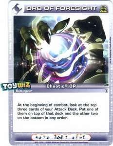 Chaotic Trading Card Game OP Organized Play Promo Single Card Rare #OP1-15 Orb of Foresight