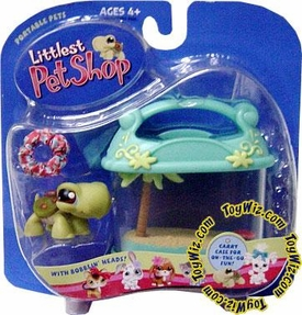 Littlest Pet Shop Pets On The Go Figure Turtle with Carry Case & Pop Up Frog