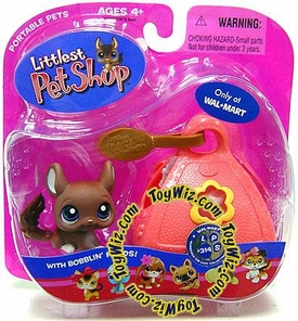 Littlest Pet Shop Pets On the Go Exclusive Figure Brown Chinchilla with Carrier