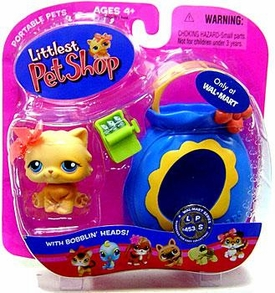 Littlest Pet Shop Pets On the Go Exclusive Figure Orange Cat with Sardines
