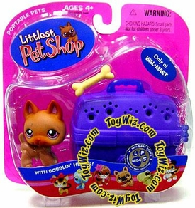 Littlest Pet Shop Pets On the Go Exclusive Figure Baby German Shepherd with Bone