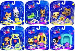 Littlest Pet Shop Set of 6 Pet Pairs & Pets on the Go Figures [Includes Bumblebee with Hive!]