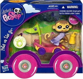 Littlest Pet Shop Pets On the Go Monkey with Race Car