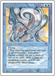 Magic the Gathering Revised Edition Single Card Uncommon Wall of Air