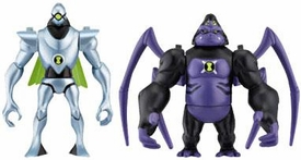 Ben 10 Alien Creation Chamber Mini Figure 2-Pack Nanomech & Ultimate Spidermonkey