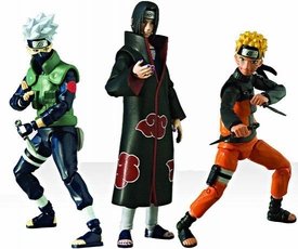 Naruto Shippuden 4 Inch Series 1 Set of 3 Action Figures [Naruto, Itachi & Kakashi]