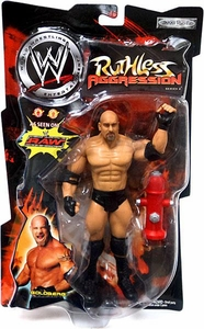 WWE Jakks Pacific Wrestling Action Figure Ruthless Aggression Series 4 Goldberg Damaged Package, Mint Contents!