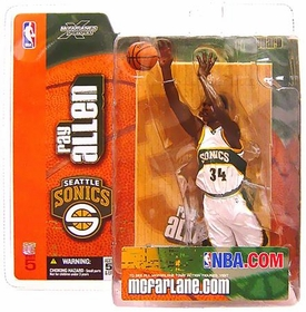 McFarlane Toys NBA Sports Picks Series 5 Action Figure Ray Allen (Seattle Supersonics) White Jersey