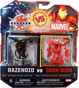 Bakugan vs. Marvel 2-Pack Black Razenoid vs. Iron Man [Silver Face]