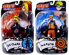 Toynami Series 1 Set of Both Naruto Shippuden 6 Inch Action Figures [Naruto & Deidara]
