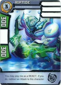 Redakai Gold Pack Single Card Rare #2354 Riptide [Green Elemental]