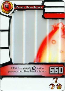 Redakai Gold Pack Single Card Rare #3152 Energy Beam Attack BLOWOUT SALE!