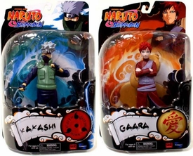 Toynami Series 2 Set of Both Naruto Shippuden 6 Inch Action Figures [Kakashi & Gaara]