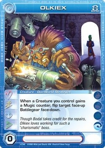 Chaotic Trading Card Game Silent Sands Creature Single Card Super Rare #8 Olkiex