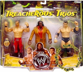 WWE Jakks Pacific Wrestling Exclusive Treacherous Trios Action Figure 3-Pack Chris Benoit, Booker T & Randy Orton