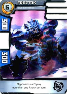 Redakai Power Pack Single Card Rare #2022 Froztok [Blue Elemental]