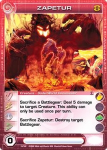 Chaotic Trading Card Game Silent Sands Creature Single Card Rare #15 Zapetur