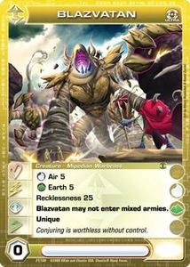 Chaotic Trading Card Game Silent Sands Creature Single Card Ultra Rare #21 Blazvatan the Epic Warbeast MEGA RARE!