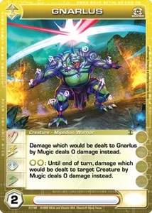 Chaotic Trading Card Game Silent Sands Creature Single Card Super Rare #27 Gnarlus