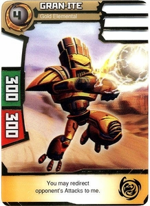 Redakai Power Pack Single Card Super Rare #2091 Gran-ite [Gold Elemental]