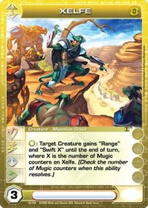 Chaotic Trading Card Game Silent Sands Creature Single Card Rare #35 Xelfe BLOWOUT SALE!