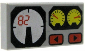 LEGO City LOOSE Accessory Gray Brick with Printed Gauges