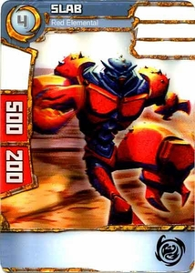 Redakai Power Pack Single Card Common #2124 Slab [Red Elemental]
