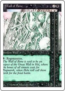 Magic the Gathering Revised Edition Single Card Uncommon Wall of Bone
