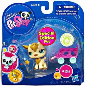 Littlest Pet Shop 2010 Assortment 'A' Series 2 Collectible Figure Goat [Special Edition Pet!]