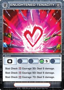 Chaotic Trading Card Game Silent Sands Attack Single Card Common #43 Enlightened Tenacity