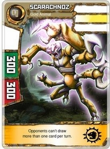 Redakai Power Pack Single Card Super Rare #2161 Scarachnoz [Gold Animal]