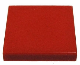 LEGO Accessories & Stuff LOOSE Accessory 2x2 Flat Red Tile