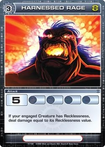 Chaotic Trading Card Game Silent Sands Attack Single Card Rare #47 Harnessed Rage
