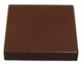 LEGO Accessories & Stuff LOOSE Accessory 2x2 Flat Brown Tile