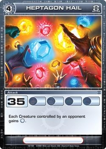 Chaotic Trading Card Game Silent Sands Attack Single Card Ultra Rare #48 Heptagon Hail RARE!