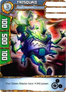 Redakai Power Pack Single Card Common #2204 Trisquad [Green Machine] BLOWOUT SALE!