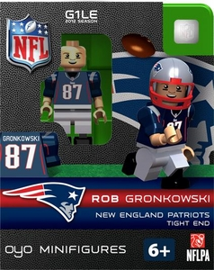 OYO Football NFL Building Brick Minifigure Rob Gronkowski [New England Patriots]