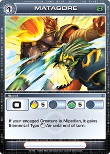Chaotic Trading Card Game Silent Sands Attack Single Card Uncommon #52 Matagore