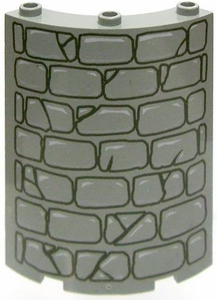 LEGO LOOSE Block Curved Stone Wall