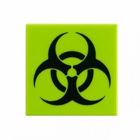 Citizen Brick Custom Printed 2x2 Tile Biohazard