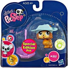 Littlest Pet Shop 2010 Assortment 'B' Series 1 Collectible Figure Pomeranian Puppy [Special Edition Pet!]