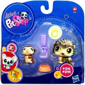 Littlest Pet Shop 2010 Assortment 'B' Series 1 Collectible Figure Porcupine & Hamster