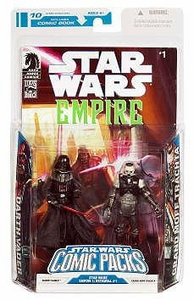 Star Wars 2009 Comic Book Action Figure 2-Pack Dark Horse: Empire #1 Darth Vader & Admiral Trachta