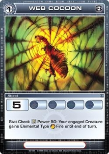 Chaotic Trading Card Game Silent Sands Attack Single Card Common #65 Web Cocoon