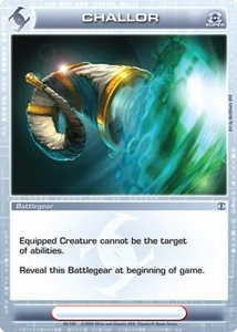 Chaotic Trading Card Game Silent Sands Battlegear Single Card Super Rare #66 Challor