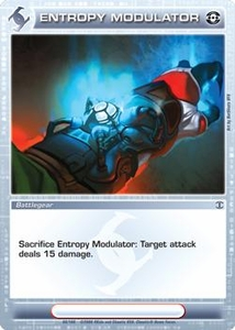 Chaotic Trading Card Game Silent Sands Battlegear Single Card Common #68 Entropy Modulator