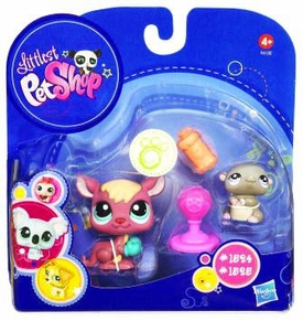 Littlest Pet Shop 2010 Assortment 'B' Series 4 Collectible Figure Kangaroo & Hamster