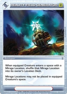 Chaotic Trading Card Game Silent Sands Battlegear Single Card Rare #73 Reality Field Generator