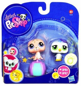 Littlest Pet Shop 2010 Assortment 'B' Series 4 Collectible Figure Baby Penguin & Seal with Beachball