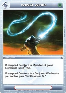 Chaotic Trading Card Game Silent Sands Battlegear Single Card Uncommon #75 Wind Whip